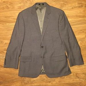 Pronto Uomo Men's 42R Wool Blend Gray Blazer